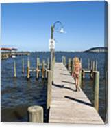 Indian River Lagoon At Eau Gallie In Florida Usa Canvas Print