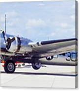 B-17 Bomber Parking Canvas Print