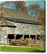 Hallockville Farm Barn Li.ny Canvas Print