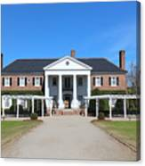 The Main House At Boone Hall Canvas Print