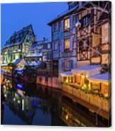 Colmar,petite Venice, Alsace, France, Canvas Print