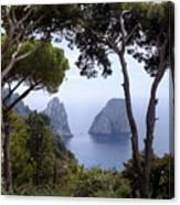 Faraglioni - Capri Canvas Print