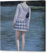 Girl In The Park Canvas Print