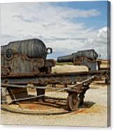 9 Inch Guns At Needles Old Battery Canvas Print