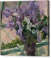 Lilacs In A Window Canvas Print