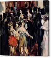 Masked Ball At The Opera Canvas Print