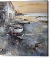 Misty Landscape Canvas Print