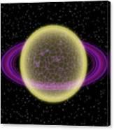 Network Planet Canvas Print