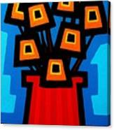 9 Orange Poppies Canvas Print