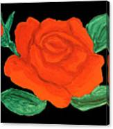 Red Rose, Painting Canvas Print