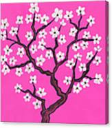 Spring Tree In Blossom, Painting Canvas Print