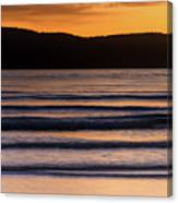 Sunrise Seascape And Headland Canvas Print