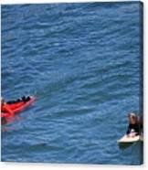 Surfer On Board. Canvas Print