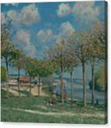 The Seine At Bougival Canvas Print
