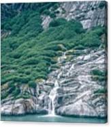 Waterfall In Tracy Arm Fjord, Alaska Canvas Print