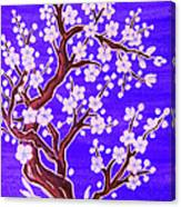 White Tree In Blossom, Painting Canvas Print