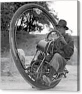 90 M P H Monocycle - 1933 Canvas Print
