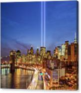 911 Tribute In Light In Nyc II Canvas Print