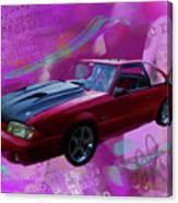 93 Mustang V2 Canvas Print
