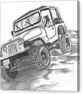 94 Jeep Wrangler Canvas Print