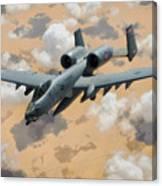 A-10 Thunderbolt Warthog Canvas Print