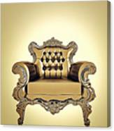 A A G - Antiquearmchairgold Canvas Print