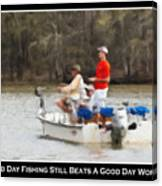 A Bad Day Fishing . . . Canvas Print