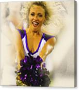 A Baltimore Ravens Cheerleader  Canvas Print