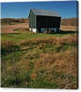A Barn In Mid Autumn  Canvas Print