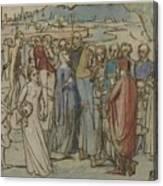 A Baron Numbering His Vassals Canvas Print