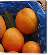 A Basket Of Oranges Canvas Print