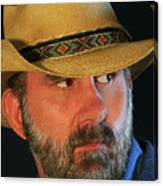 A Bearded Cowboy Canvas Print