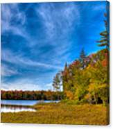 A Beautiful Autumn Day On West Lake Canvas Print