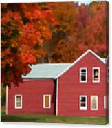 A Beautiful Country Building In The Fall 2 Canvas Print