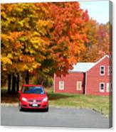 A Beautiful Country Building In The Fall 4 Canvas Print