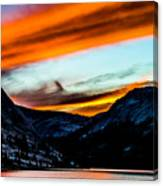 A Beautiful Jet Stream At Sunrise Canvas Print