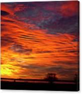 A Beautiful Valentines Sunrise Image Photo Canvas Print