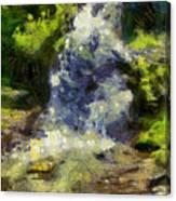 A Beautiful Waterfall Canvas Print