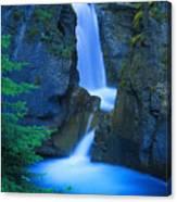 A Beautiful Waterfall, Johnston Canyon Canvas Print