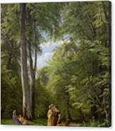 A Beech Wood In May Near Iselingen Manor Canvas Print