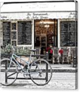 A Bicycle In Paris Canvas Print