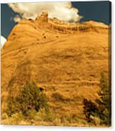 A Big Mountainous Rock On The Gemini Trail Moab Utah  Canvas Print