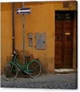 A Bike In Rome Canvas Print