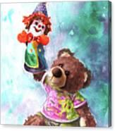 A Birthday Clown For Miki De Goodaboom Canvas Print
