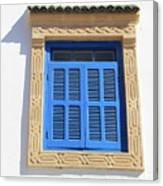 A Blue Window In Morocco Canvas Print