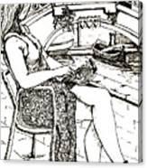 A Book In Venice Canvas Print