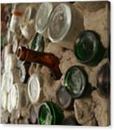 A Bottle In The Wall Canvas Print