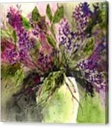 A Bouquet Of May-lilacs Canvas Print