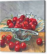 A Bowl Full Of Cherries Canvas Print