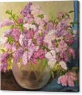 A Bowl Full Of Lilacs Canvas Print
